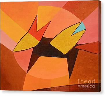 Foxy Canvas Print by Lutz Baar