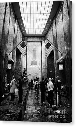 Foyer Of The Empire State Building New York City Canvas Print by Joe Fox