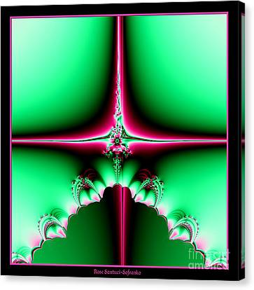 Fractal 14 Star Of Bethlehem  Canvas Print by Rose Santuci-Sofranko