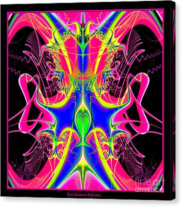 Fractal 15 Color Cacophony  Canvas Print by Rose Santuci-Sofranko