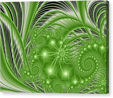 Fractal Abstract Green Nature Canvas Print