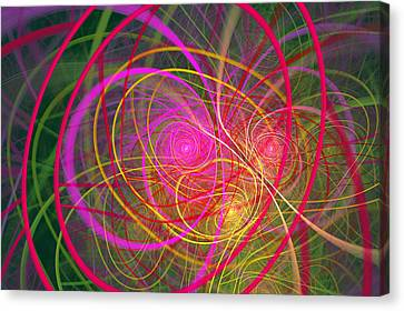Fractal - Abstract - Loopy Doopy Canvas Print by Mike Savad