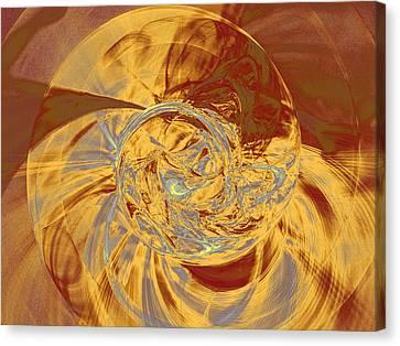 Fractal Ammonite Canvas Print