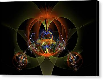 Fractal Art - Psychedelic Abstract Image - Digital Art - Red Yellow Black  Canvas Print by Keith Webber Jr