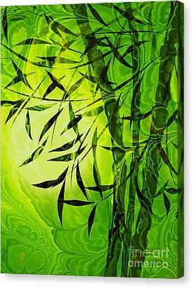 Fractal Bamboo Canvas Print by Lutz Baar