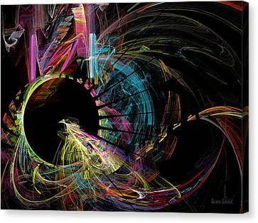 Fractal - Black Hole Canvas Print by Susan Savad