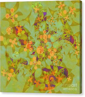 Canvas Print featuring the digital art Fractal Blossom 2 by Ursula Freer