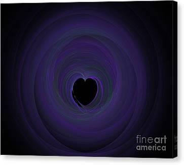 Canvas Print featuring the digital art Fractal Blue by Henrik Lehnerer