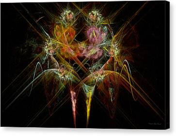 Fractal - Christ - Angels Embrace Canvas Print by Mike Savad