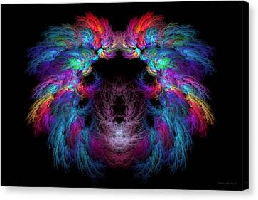 Hidden Face Canvas Print - Fractal - Christ - Angels Wings by Mike Savad