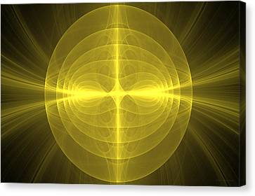 Fractal - Christ - Holy Cross Canvas Print by Mike Savad
