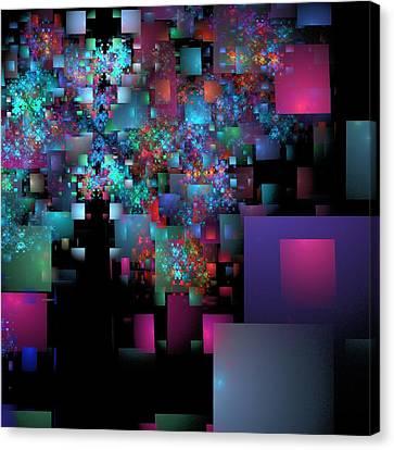 Fractal Confetti Canvas Print by Richard Ortolano