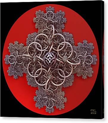 Fractal Cruciform Canvas Print