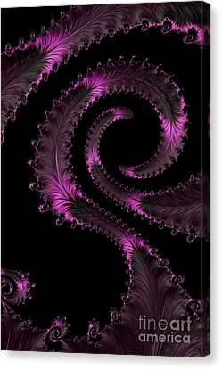 Fractal Curls Canvas Print by Ann Garrett