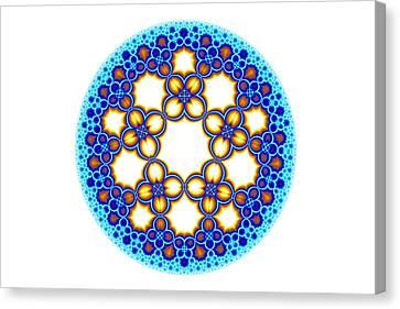 Fractal Escher Winter Mandala 3 Canvas Print by Hakon Soreide