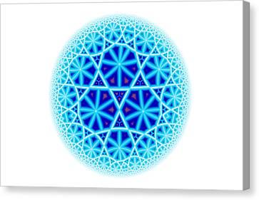 Fractal Escheresque Winter Mandala 4 Canvas Print