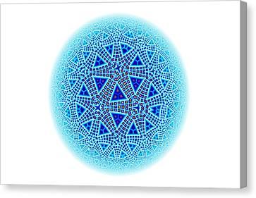 Fractal Escher Winter Mandala 5 Canvas Print