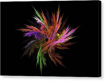 Fractal Flame - Digital Flower Image - Modern Art Canvas Print by Keith Webber Jr