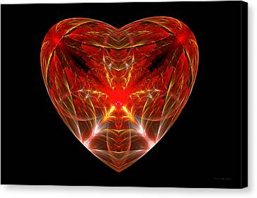 Fractal - Heart - Open Heart Canvas Print by Mike Savad