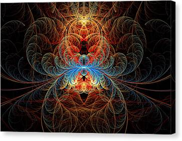Fractal - Insect - Black Widow Canvas Print by Mike Savad