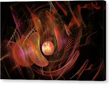 Fractal - Life Origins Canvas Print by Mike Savad