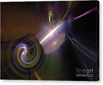 Canvas Print featuring the digital art Fractal Multi Color by Henrik Lehnerer