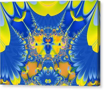Fractal Owl Canvas Print