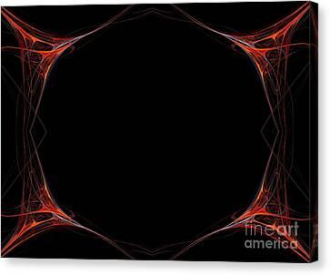 Canvas Print featuring the digital art Fractal Red Frame by Henrik Lehnerer