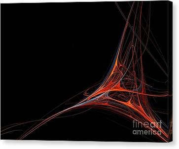 Canvas Print featuring the photograph Fractal Red by Henrik Lehnerer