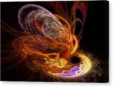 Fractal - Rise Of The Phoenix Canvas Print by Mike Savad