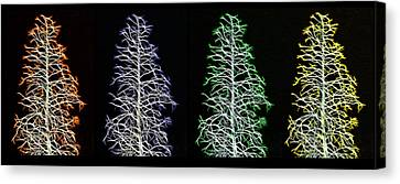 Fractal Seasons - Inverted Tetraptych Canvas Print by Steve Ohlsen