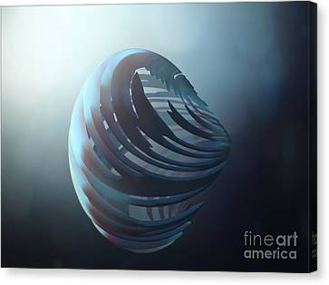 Fractal Sphere  Canvas Print by Pixel Chimp