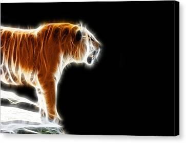 Fractal Tiger Canvas Print