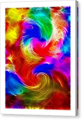 Fractal Turbulence Canvas Print by Steve Ohlsen