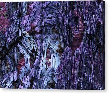 Canvas Print featuring the digital art Fractal121413 by Matt Lindley