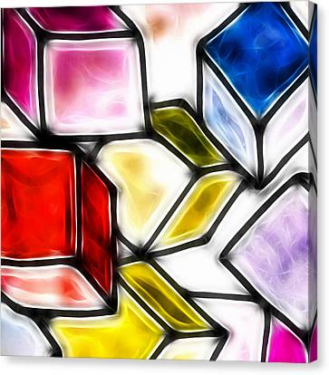Fractalius Cubes Canvas Print by Sharon Lisa Clarke