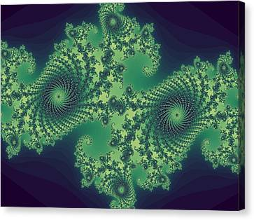 Fractals For Lane  Mapping Canvas Print by Mary Ann Southern