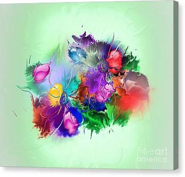 Fractured Bouquet 7 Canvas Print by John Krakora