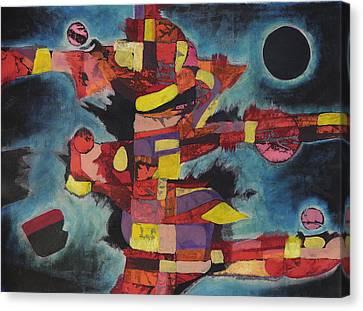 Fractured Fire Canvas Print by Mark Jordan