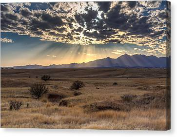 Canvas Print featuring the photograph Fractured Sky by Beverly Parks