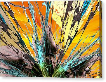 Fractured Sunset Canvas Print by Seth Weaver