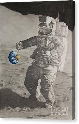 Fragil Tierra Fragile Earth Canvas Print
