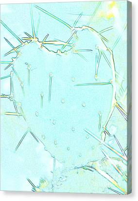 Canvas Print featuring the photograph Fragile Heart by Roselynne Broussard