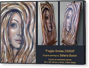 Fragile Smiles 230509 Comp Canvas Print by Selena Boron