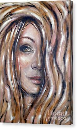 Fragile Smiles 230509 Canvas Print by Selena Boron