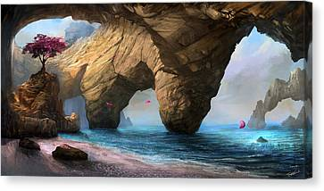 Canvas Print featuring the digital art Fragility Of Life by Steve Goad