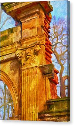 Fragment Of Ancient Ruins Canvas Print by Gynt