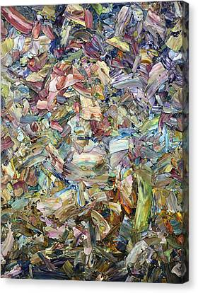 Stained Glass Canvas Print - Roadside Fragmentation by James W Johnson