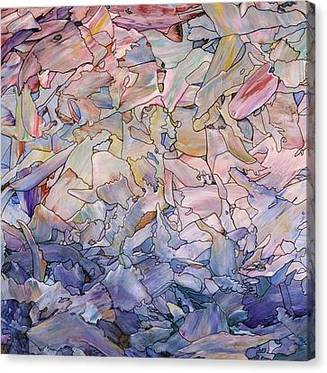 Stained Glass Canvas Print - Fragmented Sea - Square by James W Johnson
