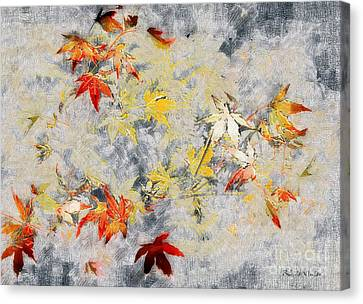 Fragments Of Fall Canvas Print by RC deWinter